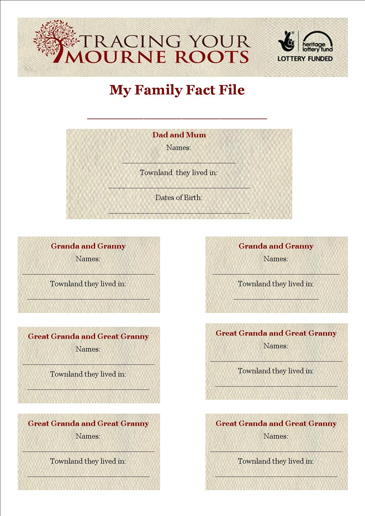 Family Fact File 1