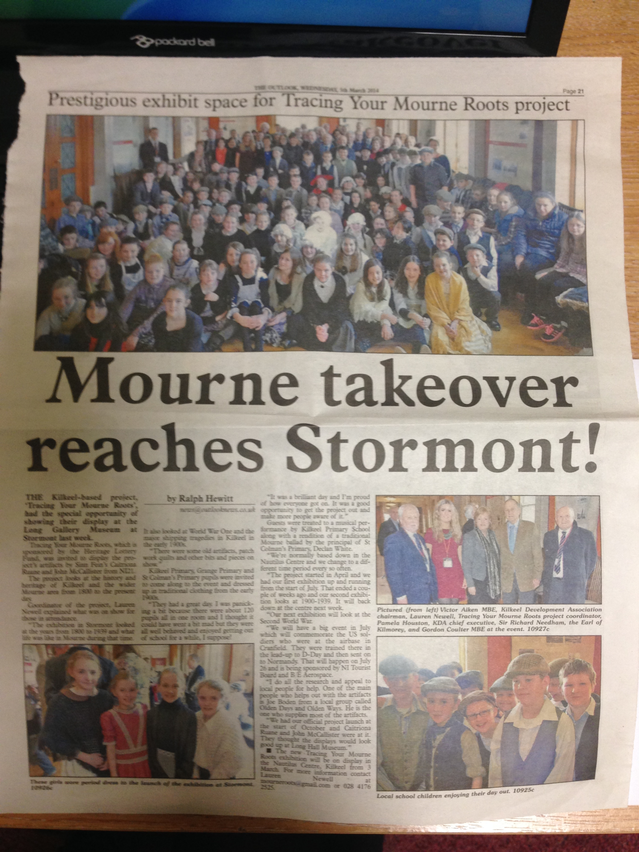 Press release in the The Outlook covering the Stormont event which was organised by Caitriona Ruane MLA and John McCallister MLA