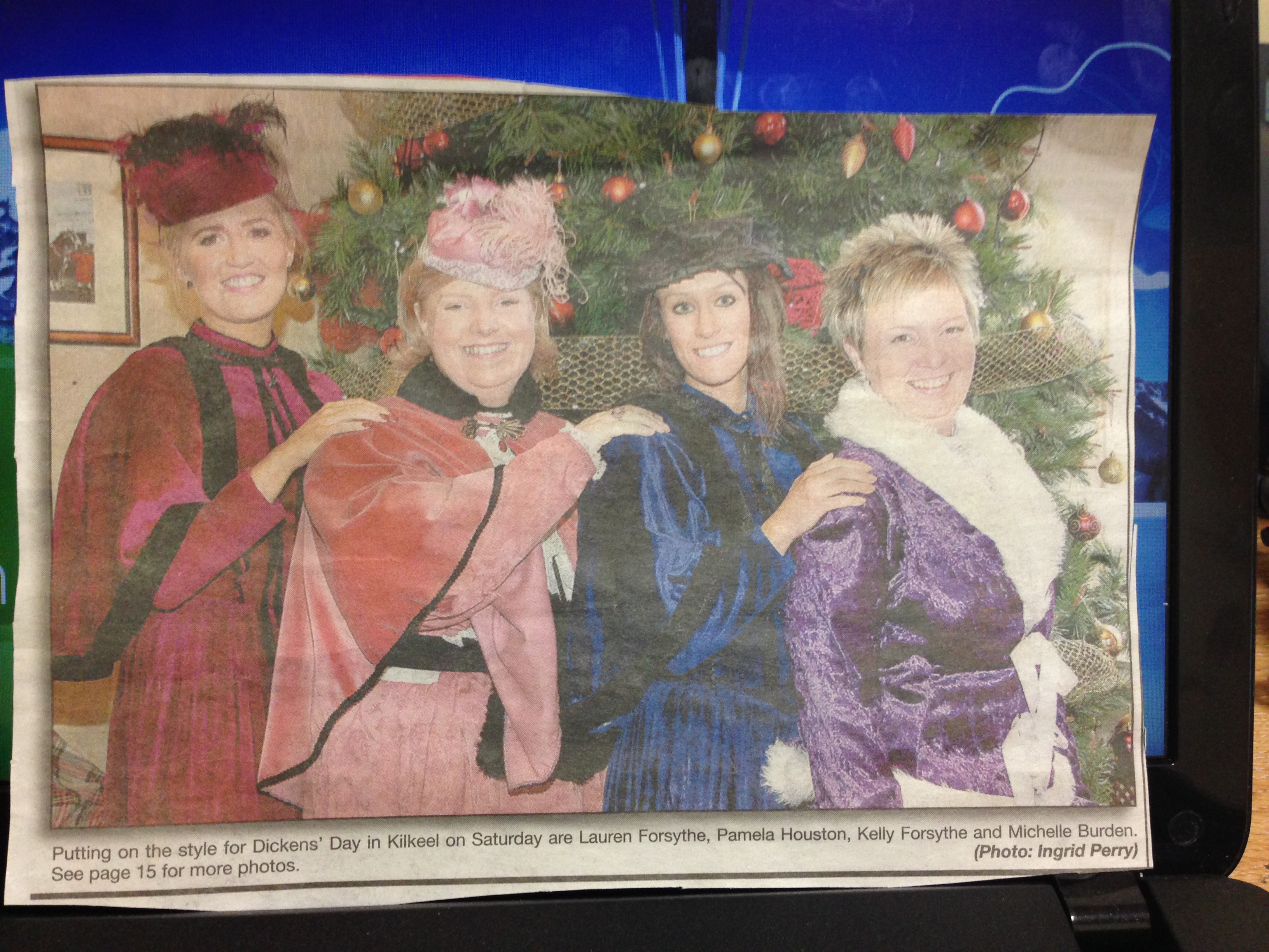 TYMR at Dickens Day 2013 covered by Mourne Observer