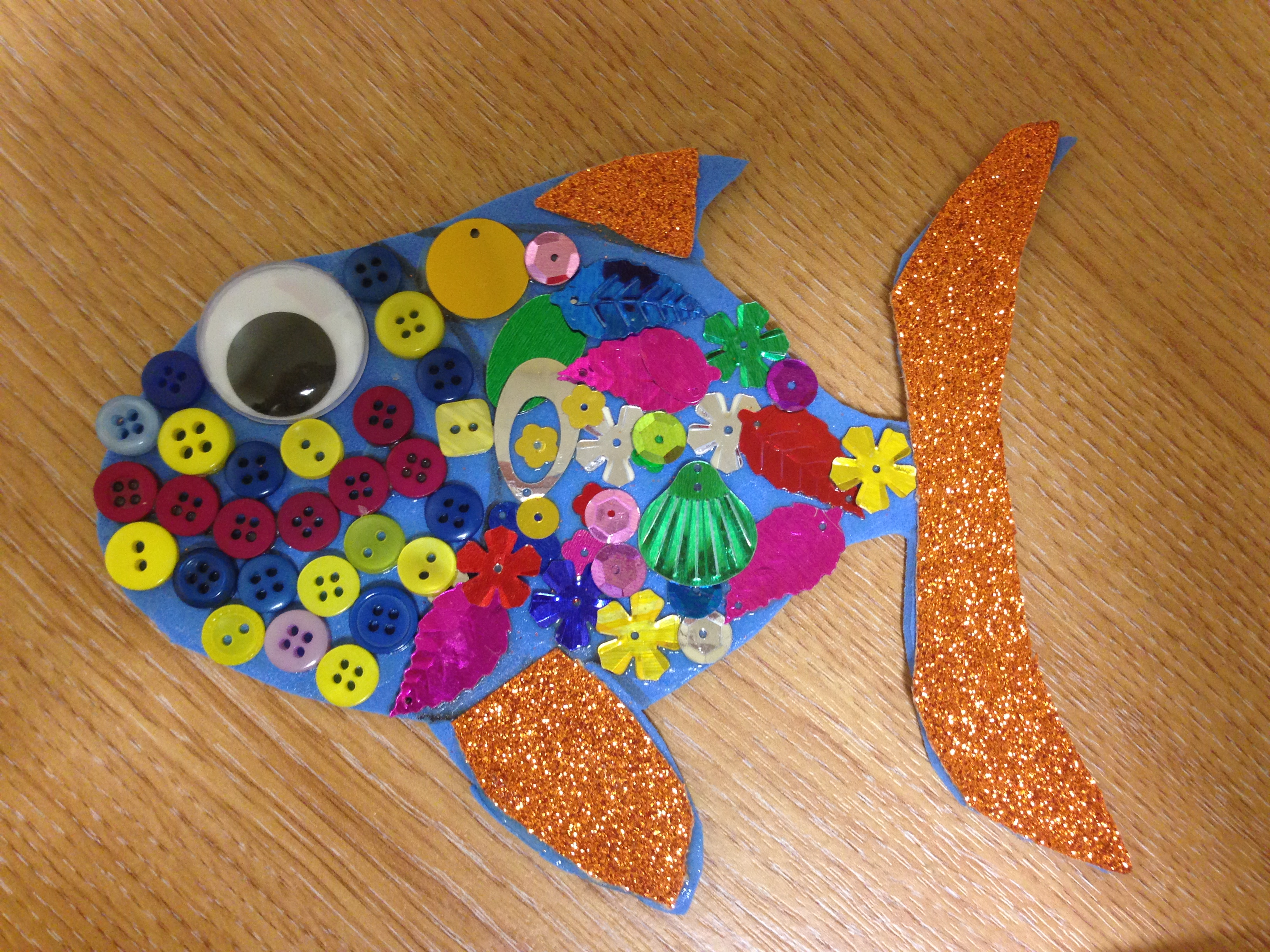 Fish which some of the kids made as part of TYMR events at the Kingdom of Mourne Festival