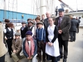 Emigration event in Warrenpoint on the aboard the Gulden Leeuw