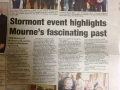 Press release in the Mourne Observer covering the Stormont event which was organised by Caitriona Ruane MLA and John McCallister MLA