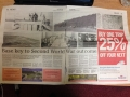 Spread in the Irish News about upcoming project and event based on the WW2 Aerodrome at Greencastle, Kilkeel