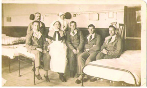Another postcard from hospital dated 1917. Robert is 2nd from right.