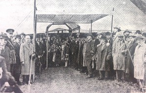Cutting of the first sod by Lord Carson at the Silent Valley in 1923