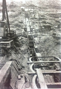 Dam cut off trench during construction