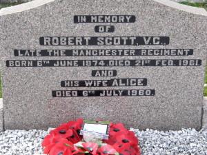 Grave of Robert Scott in Church of Ireland, Kilkeel