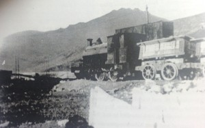 Locomotive and wagons at Silent Valley 1926