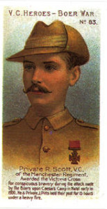 Robert Scott VC cigarette card