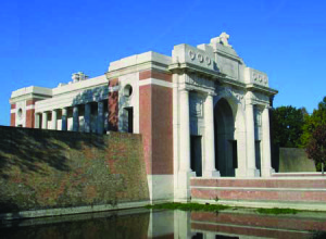 The Menin Gate in Ypres where Andrew Mullholland is remembered, as one of over 54,000 Commonwealth soldiers with no known grave